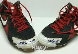 Mike Trout Signed Pair Of Game Used 2014 Nike Baseball Cleats 14 G/U PSA