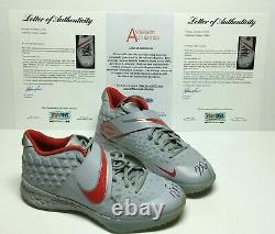 Mike Trout Signed Pair Of Game Used 2020 Nike Baseball Workout Shoes PSA