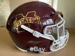 Mississippi State Hail State Bulldogs Game Used Worn Helmet Jersey Cleats 2019