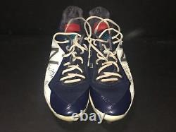 Mitch Haniger Mariners Autographed Signed 2018 Game Used Cleats Spikes E