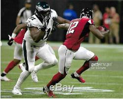 Mohamed Sanu Patriots-Atlanta Falcons Game Used Cleats vs Eagles 2019 LOA- FTA 4