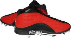 Mookie Betts Boston Red Sox Game-Used Black and Red Jordan Cleats 2019 Season