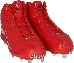 Mookie Betts Boston Red Sox Game-Used Red Jordan Cleats from the 2019 MLB Season