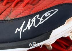Mookie Betts Boston Red Sox Signed 2017 Game-Used Red Cleats & GU Inscription