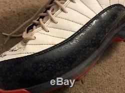 Mookie Betts MLB Holo Game Used Autographed Cleats 2017 Red Sox JRD FILTHY