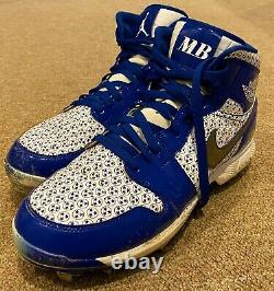 Mookie Betts MLB Holo Game Used Cleats 7 Home Run 150th Career 2020 Dodgers WS