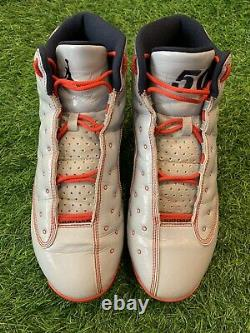 Mookie Betts Nike Jordan 13 Game Used Worn Cleats MLB Auth Red Sox Dodgers