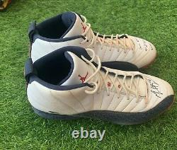 Mookie Betts Nike Jordan Game Used Worn Cleats MLB Auth July 4, 2017 Signed