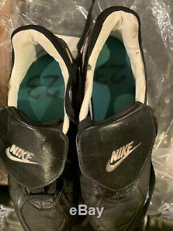 NY Yankees Don Mattingly Game Used Cleats Last Season Truly Rare Item WOW