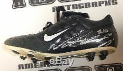 Nate Kaeding Signed Chargers Football Game Used Cleats Nike Shoe BAS Beckett COA