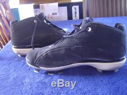 New York Yankees Derek Jeter'08 Game Used Signed Nike Jordan Cleats Steiner Psa