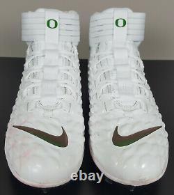 Nike Jordan Savage Pro 2 Game Worn Cleats Oregon Ducks Promo Sample Pe (size 14)