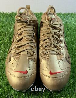 Nike Odell Beckham Jr Sample PE OBJ Uptempo Issued Game Cleats Used Pregame