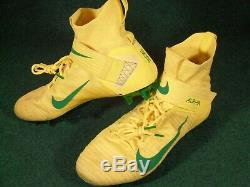 Nike Oregon Ducks Game Used Nike Alpha Menace Elite 2 Flyknit Football Cleats