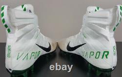 Nike Vapor Untouchable Oregon Ducks Game Worn Cleats Promo Sample Pe (size 13)