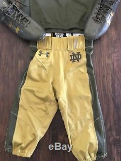 Notre Dame Football 2016 Shamrock Series Army Game Used Jersey, Pants, Cleats #15