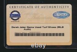 Ny Yankees Derek Jeter Game Used & Signed Nike Jordan Cleats Steiner Mlb Coa