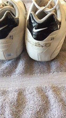 Oakland Raiders Jerry Porter Game Used Auto NIKE Football Cleats