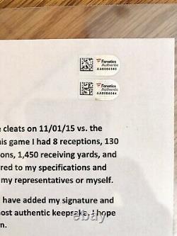 Odell Beckham Jr signed Game Used Cleats