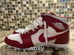 Oklahoma Sooners Jordan 1 Mid PE Cleats Size 13 Game Worn