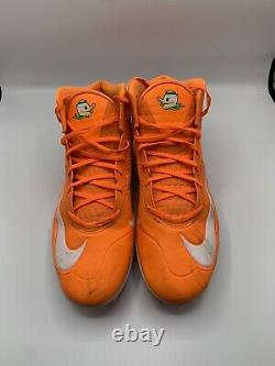 Oregon Ducks Game Used Once A Duck Nike Cleats