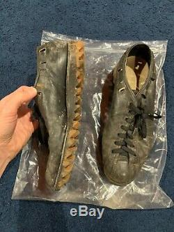 PERSONALLY OWNED HoFer Norm Van Brocklin Game Used Cleats Falcons Rams LOA
