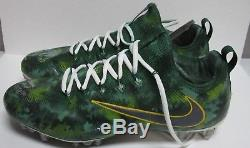 Packers DAVANTE ADAMS Signed'16 Game Used NIKE Football Cleats AUTO with 10/30/16