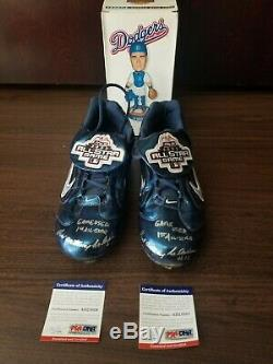 Paul Lo Duca Dodgers Signed Game Used All-star Game Shoes Coa Psa/dna Itp