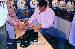Peyton Manning Signed Game Used Worn Cleats 2004 Season JSA & Manning LOA