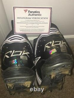 Peyton Manning Signed Game Worn Used Cleats Indianapolis Colts Broncos Fanatics