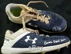 Psa/dna Drew Waters Autographed 2019 Game Used Under Armour Braves Cleats 72&73
