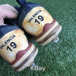 RARE Danny Valencia #19 Minnesota Twins Game Used MLB Nike Cleats Spikes