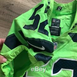 RARE Seattle Seahawks Terence Garvin #52 NFL 2017 NIKE Game Used Jersey & Cleats