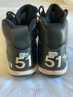 Randy Johnson game used signed cleats from Win #299 MLB authenticated