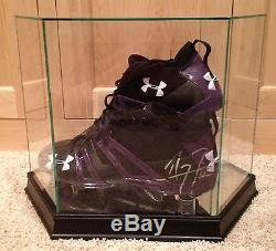 Ray Lewis Game Used Worn Signed Promo Sample Ravens NFL Football Cleats PSA COA