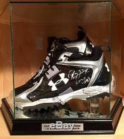 Ray Lewis Game Used Worn Signed Ravens UA NFL Football Cleats Shoes RL & JSA COA