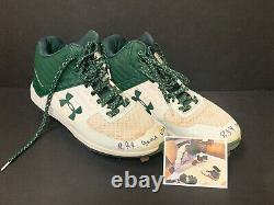 Robert Puason Oakland A's Signed Auto 2021 Game Used Cleats Green White