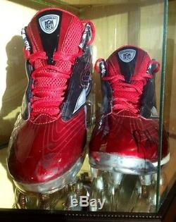 Roddy White 2011TD Game Used Worn Signed Falcons NFL Football Cleats LOA Packers