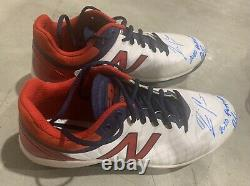 Ronald Acuna Jr. Atlanta Braves Game Used Cleats 2020 Playoffs Custom Signed