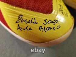 Ronald Acuna Jr. Game Used Custom 1/1 Autographed Rookie Cleats MLB Authentic