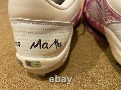 Ronald Acuna MLB Holo Signed LOA Game Used Auto Cleats Mother's Day 2021 Braves