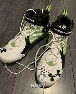Russell Wilson Seahawks Signed Game Used Worn Cleats Autographed Auto 1/1