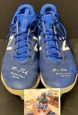 Ryan Pepiot Los Angeles Dodgers Signed Auto 2020 Game Used Cleats