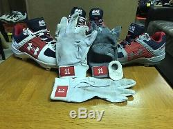 Ryan Zimmerman Nationals Game Used 2019 World Series Photomatched Cleats +Gloves