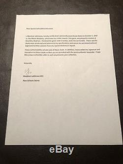 Saints Marshon Lattimore Auto Rookie London Game Used Cleats Signed Coa Photo