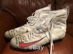 Saquon Barkley Auto 2018 Rookie Td Game Used Cleats 1/1 Photomatched Signed Coa