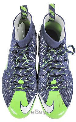Seahawks Marshawn Lynch Signed Game Used Nike Size 12 Cleats BAS & MEARS