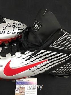 Sony Michel Georgia Bulldogs Signed Game Used Nike Cleats Freshman Yr. Jsa Coa