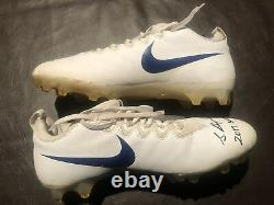 Sterling Shepard 2017 Auto Game Worn Used Nike Cleats Signed Player Coa Proof