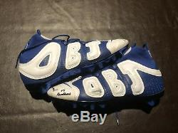 Sterling Shepard Auto Game Used Custom Odell Beckham Jr Cleats Photo Signed Coa